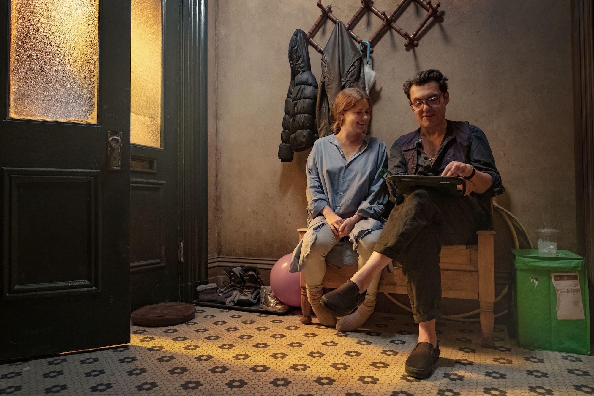 Woman in the Window (2021), Director Joe Wright with Amy Adams as Anna Fox.
