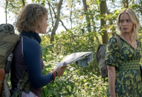 """Regan (Millicent Simmonds), left, and Evelyn (Emily Blunt) brave the unknown in """"A Quiet Place Part II."""""""