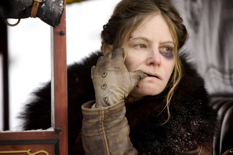 THE HATEFUL EIGHT, Jennifer Jason Leigh, 2015. ph: Andrew Cooper / © The Weinstein Company / courtesy Everett Collection