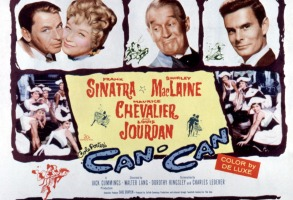 CAN-CAN, Frank Sinatra, Shirley MacLaine, Maurice Chevalier, Louis Jourdan, 1960