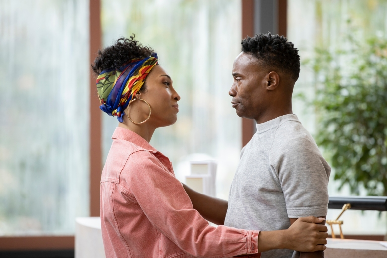 """POSE -- """"Intervention"""" -- Season 3, Episode 2 (Airs May 2) Pictured: Mj Rodriguez as Blanca, Billy Porter as Pray Tell. CR: Eric Liebowitz/FX"""