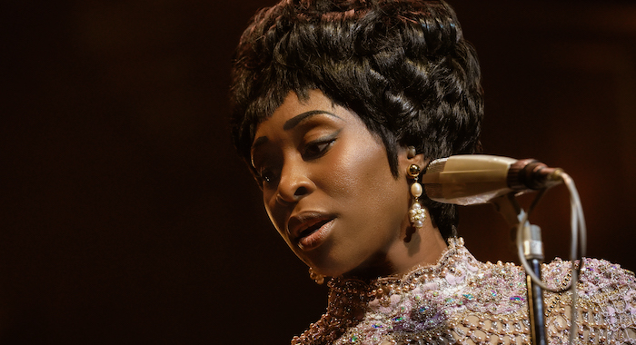Aretha Franklin, played by Cynthia Erivo, performs at the Concertgebouw in Amsterdam. (Credit: National Geographic/Richard DuCree)