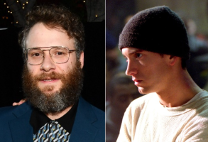 "Seth Rogen, Eminem in ""8 Mile"""