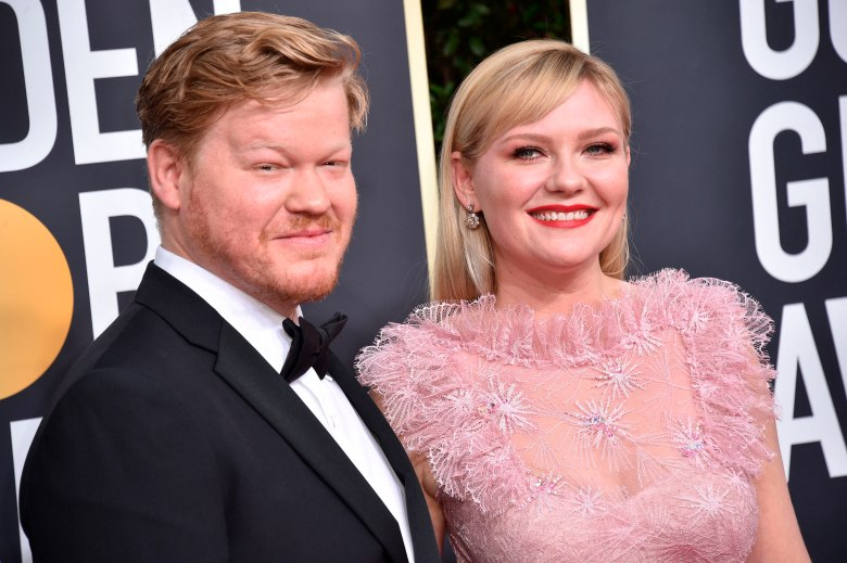 Jesse Plemons and Kirsten Dunst attending the 77th Golden Globe Awards Arrivals at The Beverly Hilton, Los Angeles, CA, USA on January 5, 2020. Photo by Lionel Hahn/Abaca/Sipa USA(Sipa via AP Images)