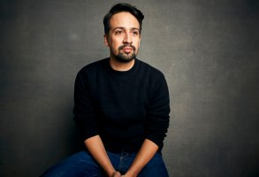 """FILE - Lin-Manuel Miranda poses for a portrait during the Sundance Film Festival in Park City, Utah on Jan. 25, 2020.  The playwright, actor and songwriter shows his impressive hip-hop improv skills in """"We Are Freestyle Love Supreme,"""" a documentary streaming on Hulu. (Photo by Taylor Jewell/Invision/AP, File)"""