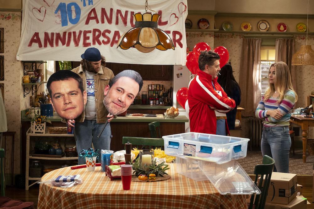 Alex Bonifer as Neil, Eric Petersen as Kevin, Annie Murphy as Allison - Kevin Can F*** Himself _ Season 1 - Photo Credit: Jojo Whilden/AMC