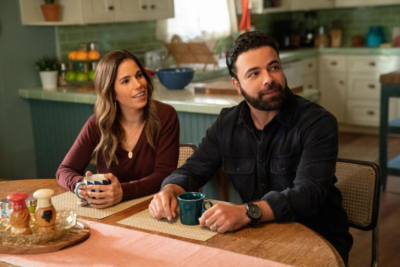 """Love, Victor -- """"The Morning After"""" - Episode 208 -- After a confrontation with Isabel, tensions rise with Benji and Victor. Mia learns troubling news. Isabel (Ana Ortiz) and Armando (James Martinez), shown. (Photo by: Greg Gayne/Hulu)"""