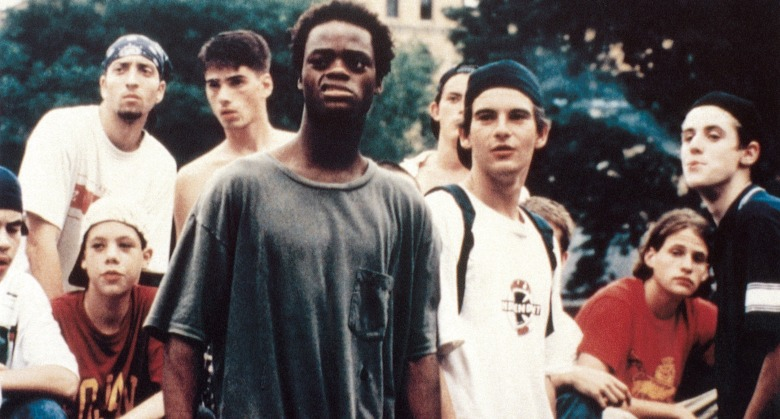 KIDS, front from left: Harold Hunter, Justin Pierce, 1995, © Shining Excalibur Films/courtesy Everett Collection