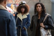 """POSE -- """"Pilot"""" -- Season 1, Episode 1 (Airs Sunday, June 3, 9:00 p.m. e/p) Pictured (l-r):  Indya Moore as Angel, Mj Rodriguez as Blanca. CR: JoJo Whilden/FX"""