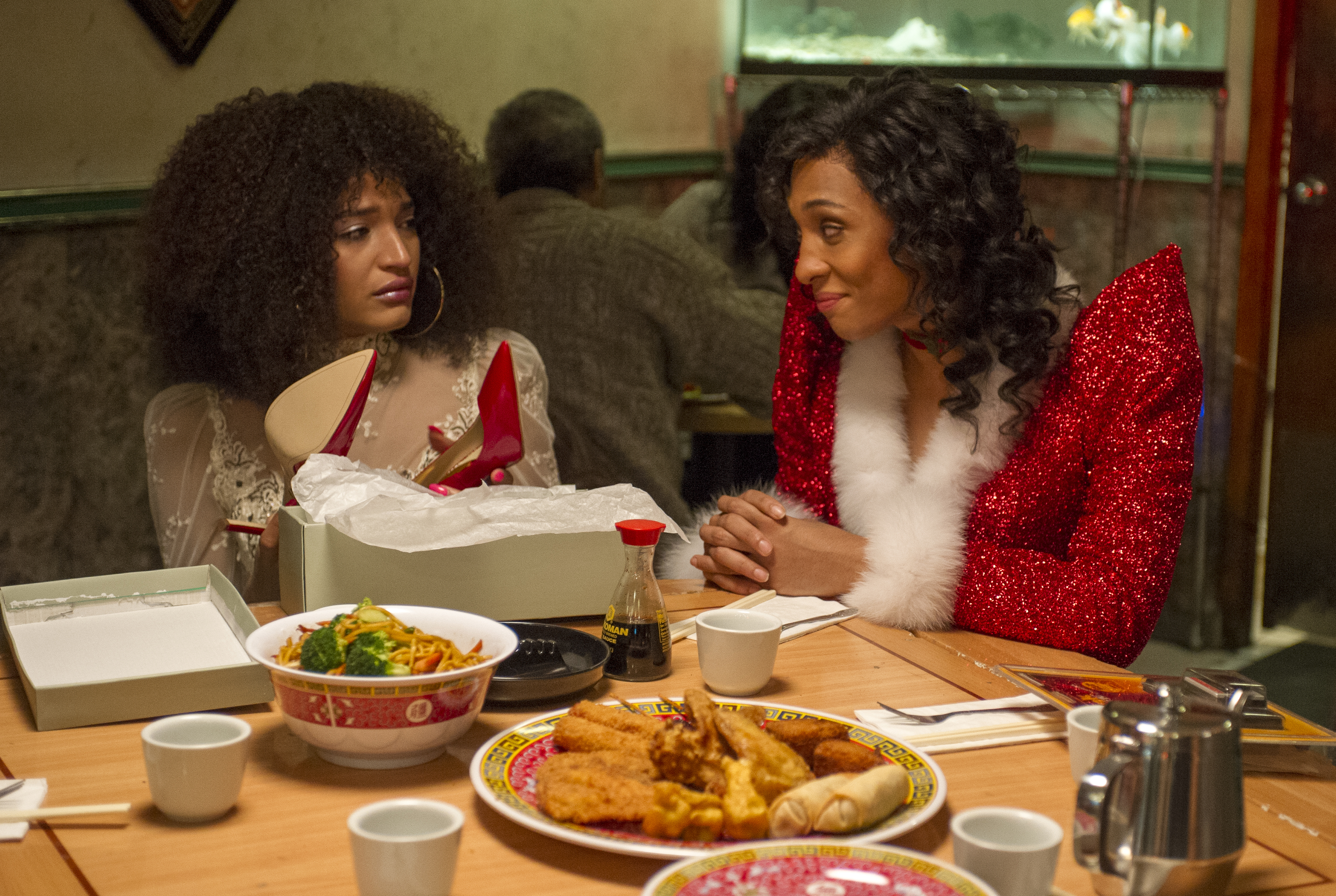 """POSE -- """"Giving and Receiving"""" -- Season 1, Episode 3 (Airs Sunday, June 17, 9:00 p.m. e/p) Pictured (l-r): Indya Moore as Angel, Mj Rodriguez as Blanca. CR: Jeffrey Neira/FX"""