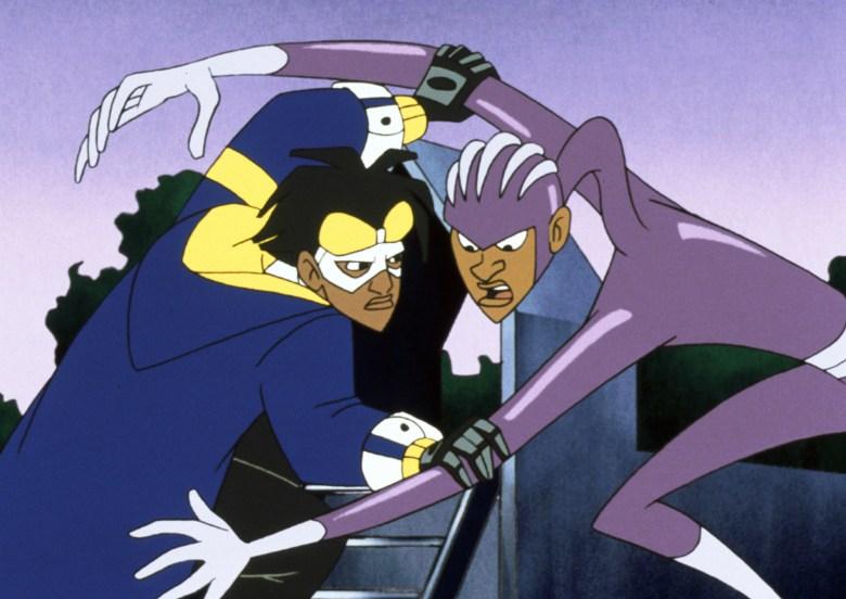 STATIC SHOCK, (from left): Static (aka Virgil Hawkins), Rubberband Man (aka Adam Evans), (2001), 2000-04. © Warner Bros. Animation / Courtesy: Everett Collection