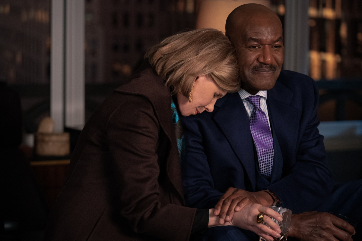 Pictured: Christine Baranski as Diane Lockhart and Delroy Lindo as Adrian Boseman of the Paramount+ series THE GOOD FIGHT. Photo Cr: CBS ©2021 Paramount+, Inc. All Rights Reserved.