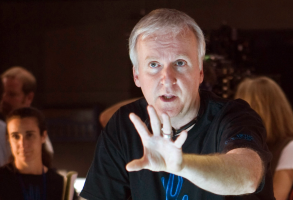 """James Cameron on the set of """"Avatar"""""""