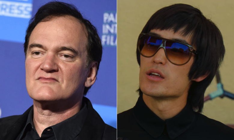 """Quentin Tarantino, Mike Moh as Bruce Lee in """"Once Upon a Time in Hollywood"""""""