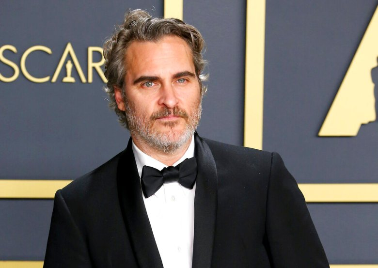 HOLLYWOOD, CA - FEBRUARY 9: Joaquin Phoenix poses in the press room during the 92nd Annual Academy Awards at Loews Hollywood Hotel on February 9, 2020 in Hollywood, California. Photo: Christopher Victorio/imageSPACE/Sipa USA(Sipa via AP Images)