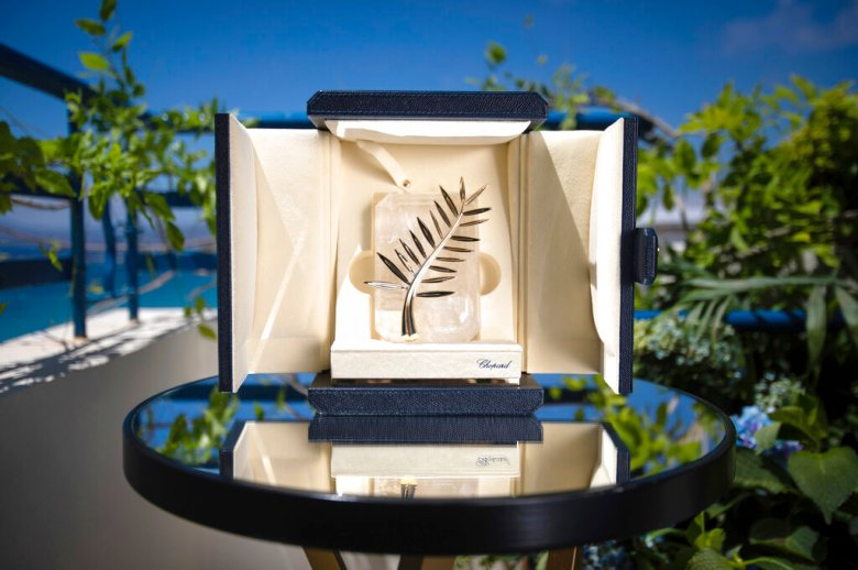 The Palme d'Or is displayed prior to the 74th international film festival, Cannes, southern France, July 5, 2021. The Cannes film festival runs from July 6 - July 17, 2021. (Photo by Vianney Le Caer/Invision/AP)