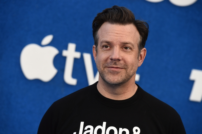 """Jason Sudeikis arrives at the premiere of the second season of """"Ted Lasso"""" on Thursday, July 15, 2021, at the Pacific Design Center. (Photo by Jordan Strauss/Invision/AP)"""