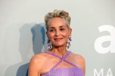Sharon Stone poses red carpet of the 27th edition of AmfAR Gala Cannes during the 74th Cannes International Film Festival, at the Villa Eilenroc, in Cap Antibes, France, on July 16, 2021. (Sipa via AP Images)