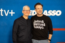 Apple CEO Tim Cook and Jason Sudeikis