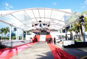 General views of the Cannes Film Festival in Cannes, France on July 6, 2021.
