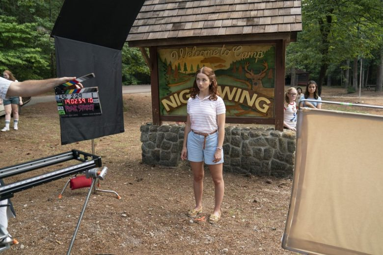 FEAR STREET PART 2: 1978 - (Pictured) BTS of EMILY RUDD as CINDY. Cr: Jessica Miglio/Netflix © 2021