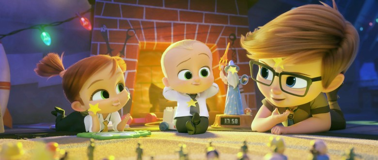 THE BOSS BABY: FAMILY BUSINESS, (aka THE BOSS BABY 2), from left: Tina Templeton (voice: Amy Sedaris), Theodore Templeton (voice: Alec Baldwin), Tim Templeton (voice: James Marsden), 2021. © Universal Pictures / courtesy Everett Collection