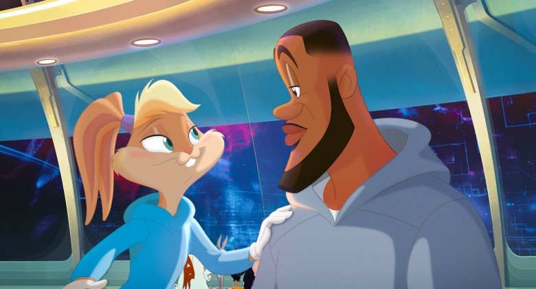 SPACE JAM: A NEW LEGACY, (aka SPACE JAM 2), from left: Lola Bunny (voice: Zendaya), LeBron James, 2021. © Warner Bros. / Courtesy Everett Collection