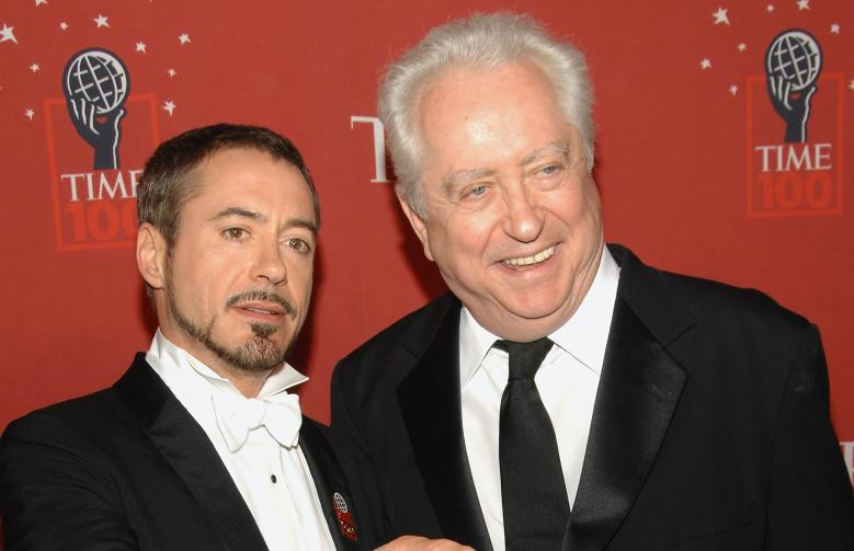 Robert Downey Jr., left, and his father Robert Downey Sr.