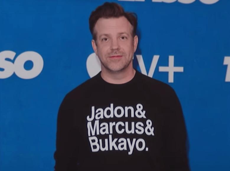 "Jason Sudeikis at the ""Ted Lasso"" Season 2 premiere"