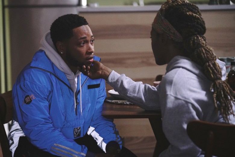 THE CHI, from left: Jacob Latimore, Yolonda Ross, The Spook Who Sat By The Door', (Season 4, ep. 405, aired June 20, 2021). photo: Elizabeth Sisson / ©Showtime / Courtesy Everett Collection