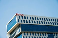 The Netflix building in Hollywood, Calif.