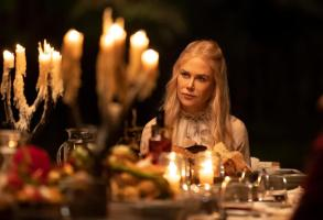 """Nine Perfect Strangers -- """"Episode Four"""" - Episode 104 -- As the guests learn more about Tranquillum's unique protocols, everyone must decide if they will continue under Masha's care. Meanwhile, Masha is receiving mysterious threats of her own. Masha (Nicole Kidman), shown. (Photo by: Vince Valitutti/Hulu)"""
