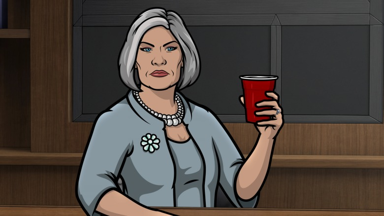 """ARCHER -- """"Identity Crisis --Season 12, Episode 1 (Airs Wednesday, August 25) Pictured: Malory Archer (voice of Jessica Walter). CR: FXX"""