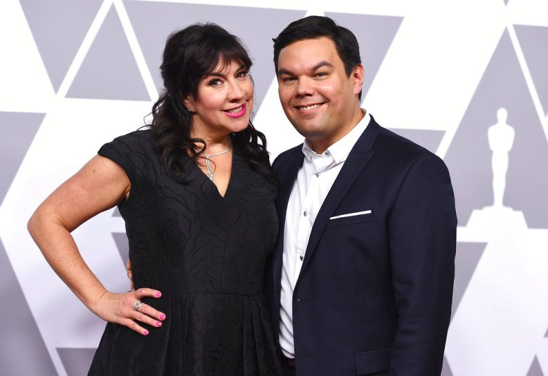 Kristen Anderson-Lopez, left, and Robert Lopez arrive at the 90th Academy Awards Nominees Luncheon at The Beverly Hilton hotel on Monday, Feb. 5, 2018, in Beverly Hills, Calif. (Photo by Jordan Strauss/Invision/AP)