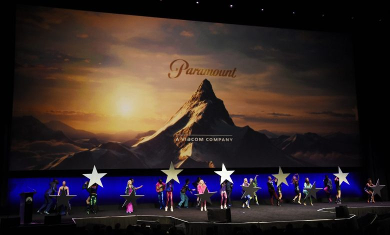 Dancers begin the Paramount Pictures presentation at CinemaCon 2019, the official convention of the National Association of Theatre Owners (NATO) at Caesars Palace, Thursday, April 4, 2019, in Las Vegas. (Photo by Chris Pizzello/Invision/AP)