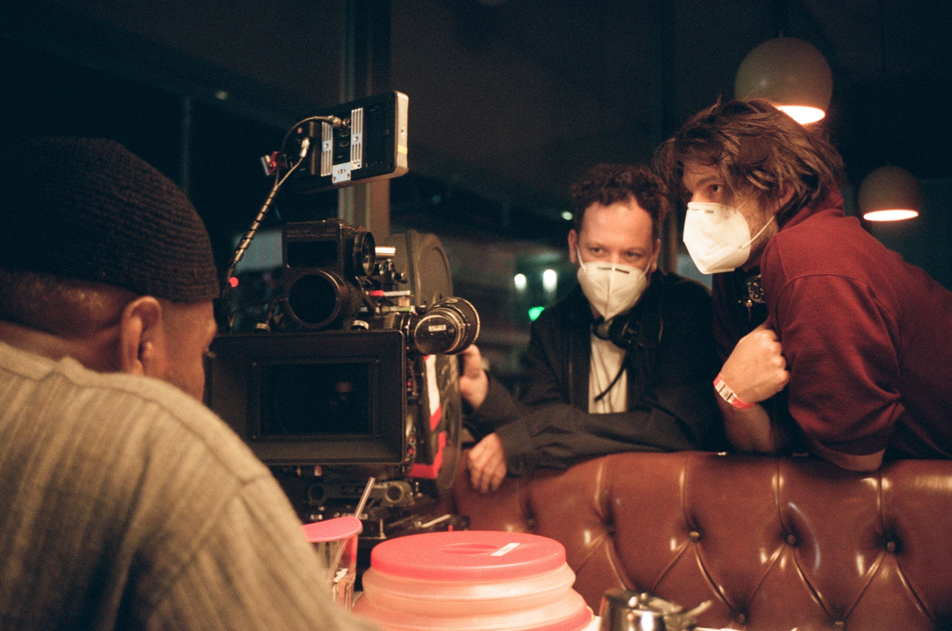 Euphoria cinematographer Marcell Rev (left) with director Sam Levinson