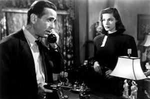 THE BIG SLEEP, Humphrey Bogart, Lauren Bacall, 1946.