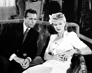 MURDER, MY SWEET, from left, Dick Powell, Claire Trevor, 1944