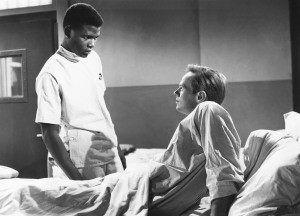 NO WAY OUT, from left: Sidney Poitier, Richard Widmark, 1950, TM & Copyright © 20th Century Fox Film Corp./courtesy Everett Collection