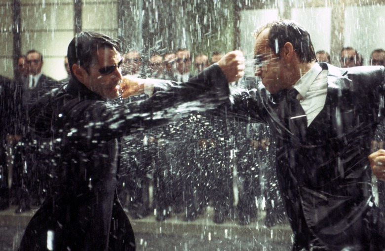 THE MATRIX REVOLUTIONS, Keanu Reeves, Hugo Weaving, 2003, (c) Warner Brothers/courtesy Everett Collection