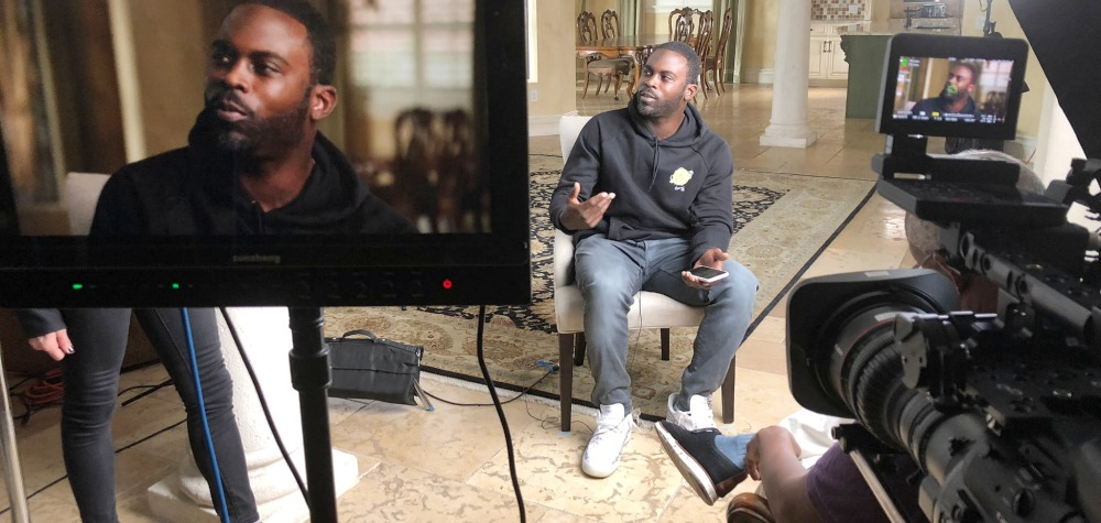 """Michael Vick being interviewed for """"VICK"""""""