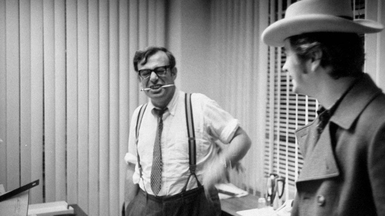 (L-R) Theater owner Donald Rugoff and film director
