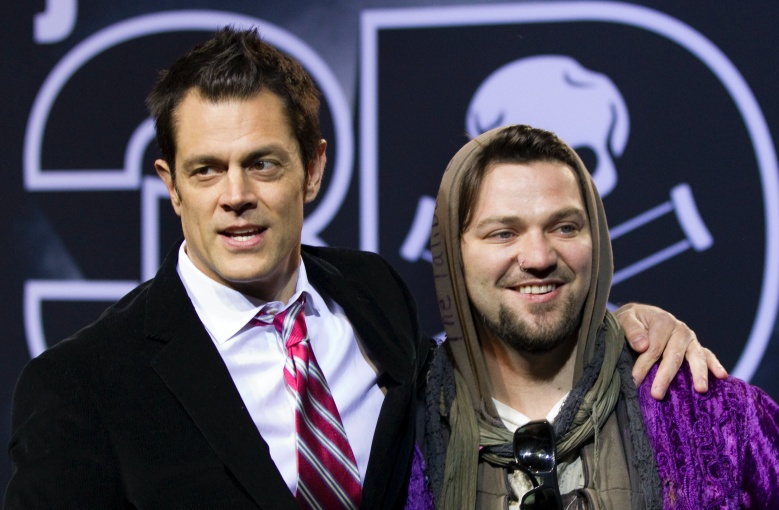 """Johnny Knoxville and Bam Margera at the premiere of """"Jackass 3D"""""""
