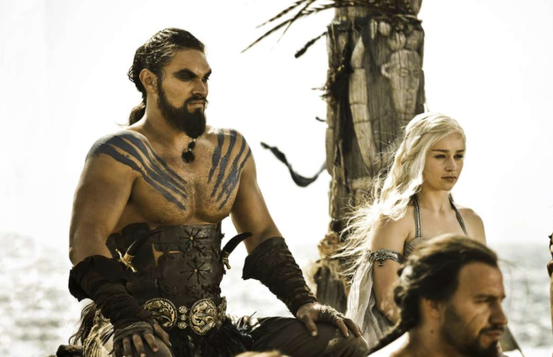 "Jason Momoa and Emilia Clarke, ""Game of Thrones"""