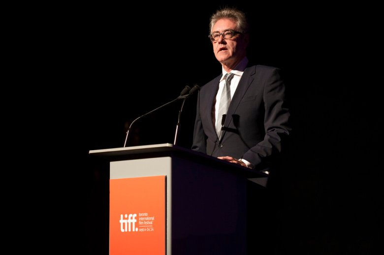 """Director and CEO of TIFF Piers Handling seen at the premiere of """"A Little Chaos"""" at Roy Thomson Hall during the 2014 Toronto International Film Festival on Saturday, Sept. 13, 2014, in Toronto. (Photo by Arthur Mola/Invision/AP)"""