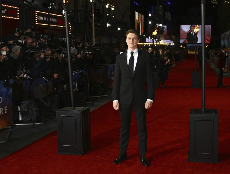 Actor George MacKay poses for photographers upon arrival at the World premiere of the film '1917', in central London, Wednesday, Dec. 4, 2019. (Photo by Joel C Ryan/Invision/AP)