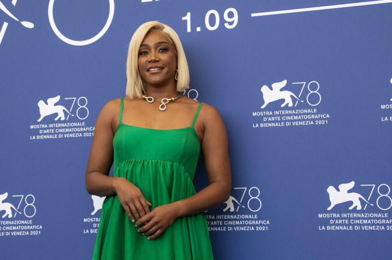 Tiffany Haddish poses for photographers at the photo call for the film 'The Card Counter' during the 78th edition of the Venice Film Festival in Venice, Italy, Thursday, Sep, 2, 2021. (Photo by Joel C Ryan/Invision/AP)