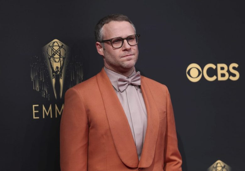 Seth Rogen arrives at the 73rd Emmy Awards at the JW Marriott on Sunday, Sept. 19, 2021 at L.A. LIVE in Los Angeles. (Photo by Danny Moloshok/Invision for the Television Academy/AP Images)