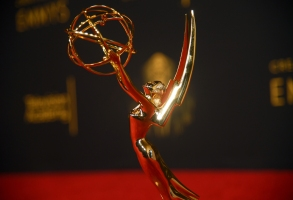 A view of an Emmy statuette