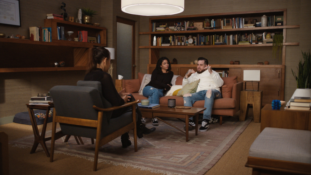"""(L-R): Tashira and Dru in COUPLES THERAPY, """"208"""". Photo credit: Courtesy of SHOWTIME."""